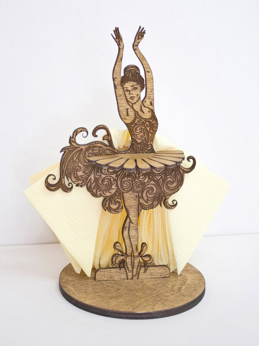 Laser Cut Ballerina Napkin Holder PDF File