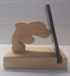 Laser Cut Dolphin Phone Stand Free Vector