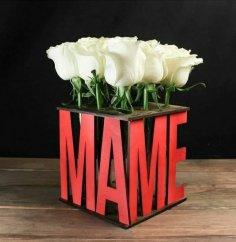 Laser Cut Decor Flower Flask Stand (Для Цветов Маме) Free Vector