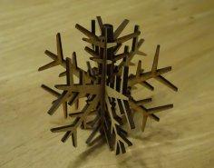 Laser Cut Snowflake Decoration 100mm DXF File