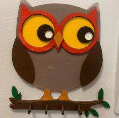 Laser Cut Owl Wall Hanger Owl Wall Decor Free Vector