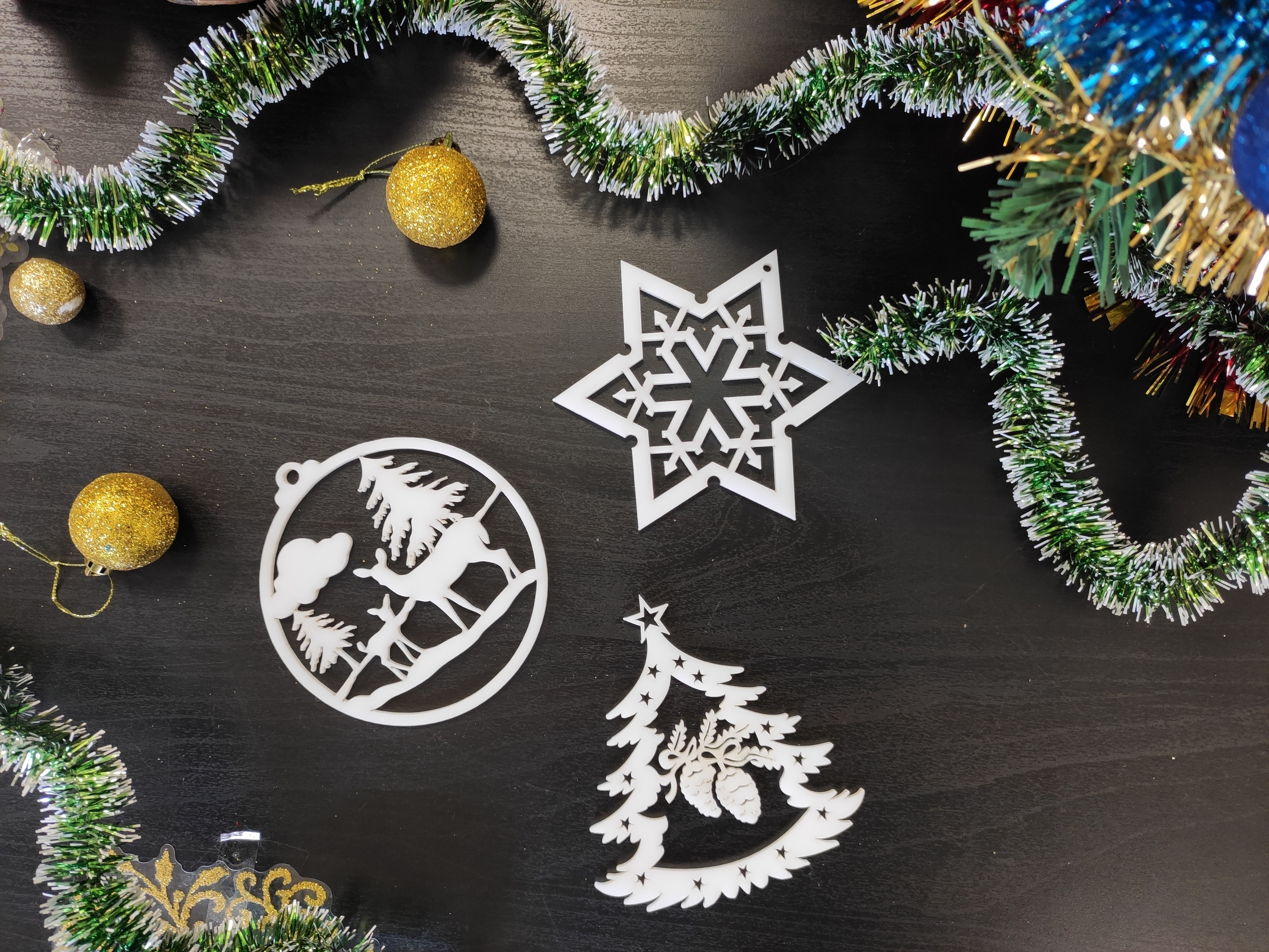 Laser Cut Christmas Tree Wooden Toys Free Vector