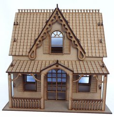 Laser Cut Wooden American Girl Doll House Free Vector