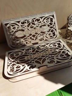 Laser Cut Decorative Money Box Free Vector