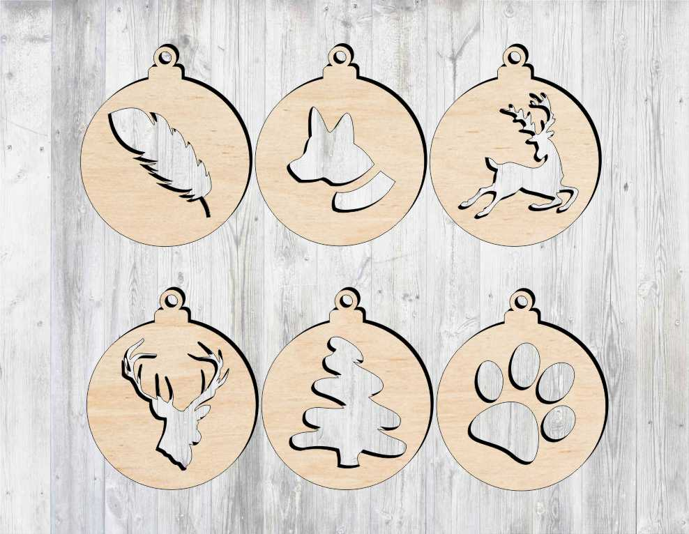 Laser Cut Christmas Tree Decorations Free Vector