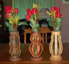 Scroll Saw Vases Template Free Vector