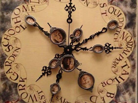 Laser Cut Harry Potter Weasley Clock Free Vector