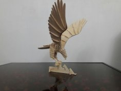 Laser Cut Hawk 3D Puzzle DXF File