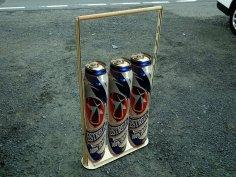 Laser Cut Wooden Beer Caddy Beverage Holder Free Vector