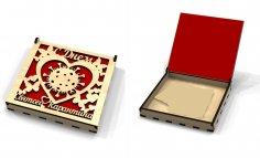 Laser Cut Quarantine Birthday Box Free Vector