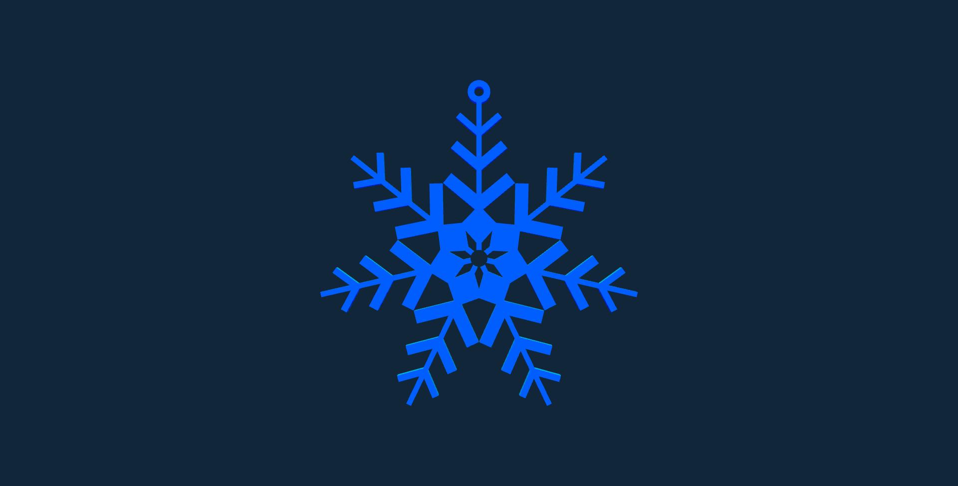 Snowflake design 4 stl file