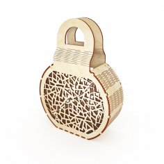 Laser Cut Wooden Clutch Wooden Bag Wooden Clutch Bag Free Vector