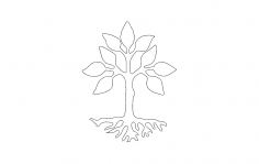Tree Design dxf file