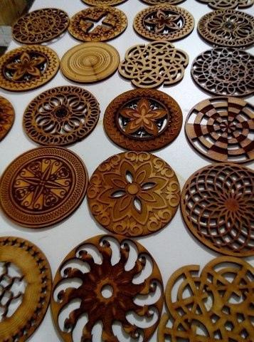 Laser Cut Mandala Coasters Free Vector