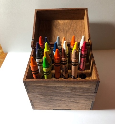 Laser Cut Wooden Crayon Box SVG File