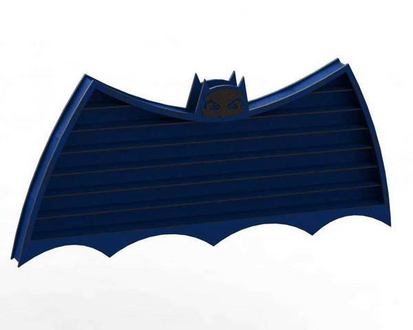 Laser Cut Bat Shape Wooden Wall Shelf Free Vector