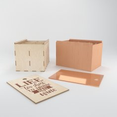 Laser Cut Life Is Too Short To Drink Bad Wine Engraved Box Free Vector