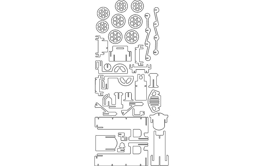 LOKOMOTIV 1.5mm dxf File 3D Puzzle