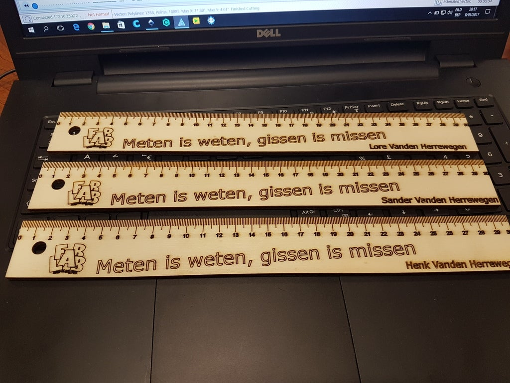 Laser Cut Personalized Ruler Template SVG File