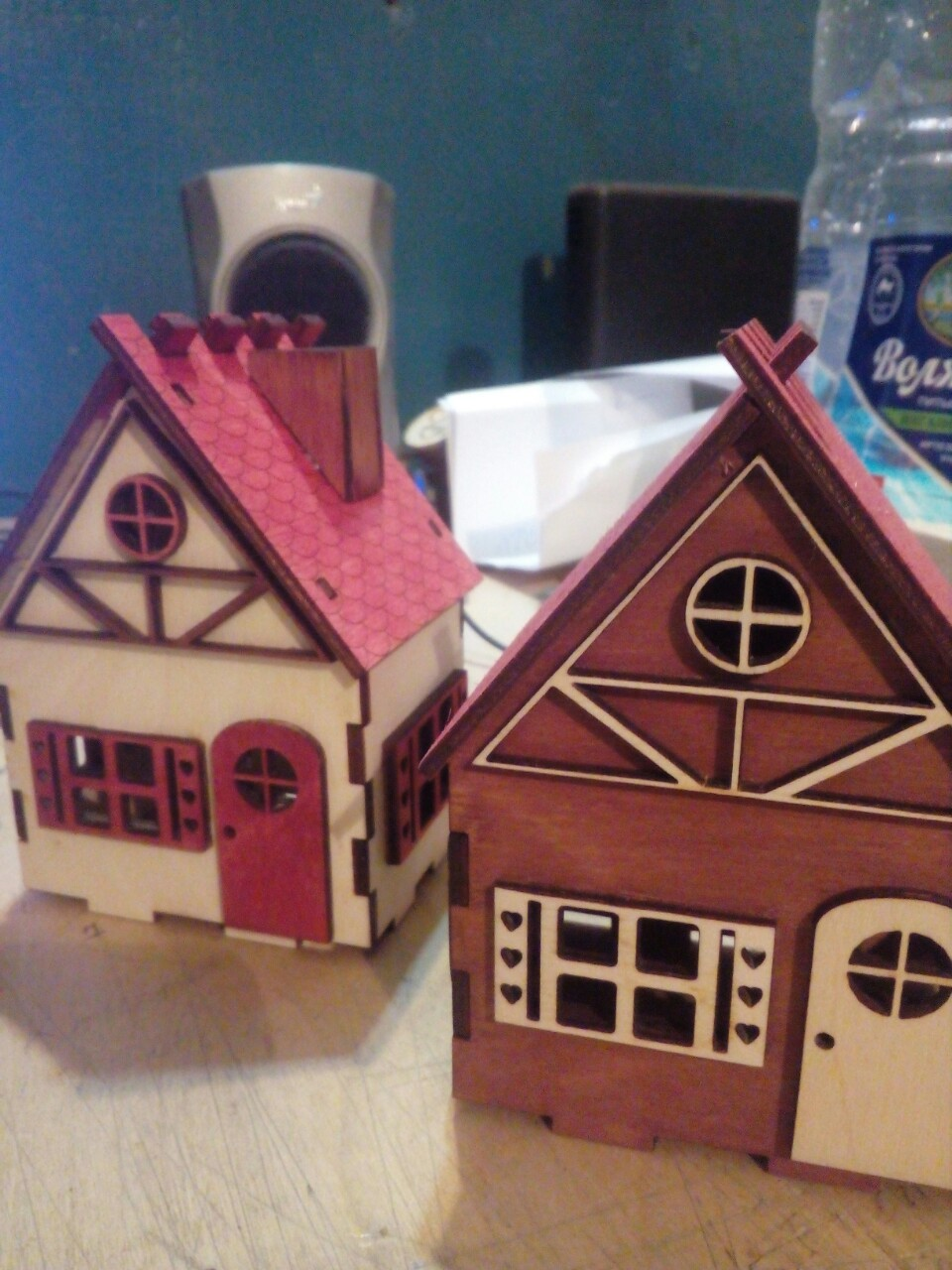 Wooden Toy House For Kids Laser Cut Template Free Vector