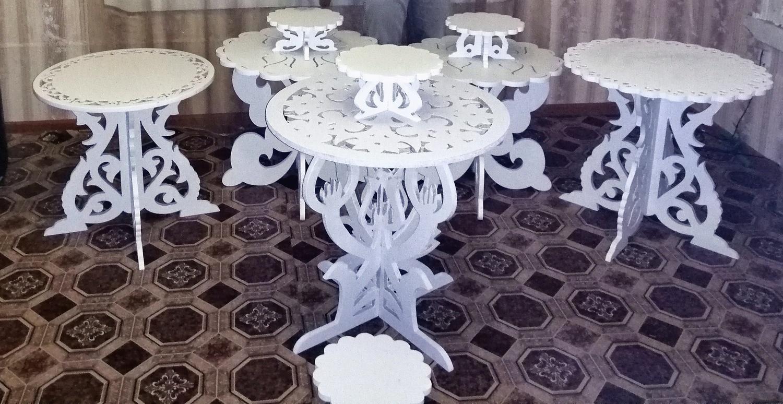 Laser Cut Decorative Furniture Table Set Free Vector