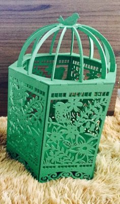 Laser Cut Mdf Decorative Cage DXF File