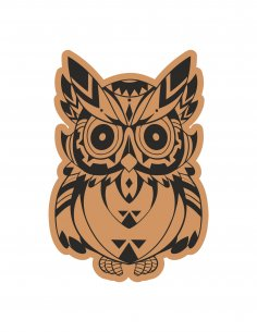 Cute Owl Laser Cut Engraving Template Free Vector