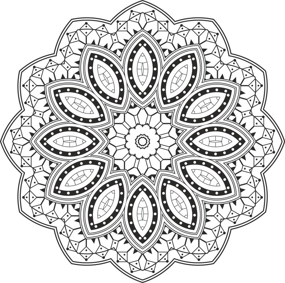 Mandala Design Free Vector