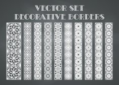 Decorative Borders Vector Free Vector