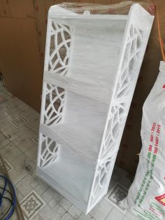 Decorative Bookcase Shelf Laser Cut Free Vector
