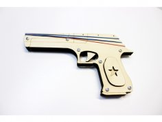 Laser Cut Rubber Band Gun Free Vector