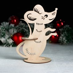 Laser Cut Napkin Holder Mouse New Year 2020 Free Vector