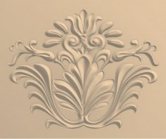 Carved Floral Design for CNC Router Stl File