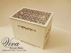 Laser Cut Wedding Favor Box Free Vector