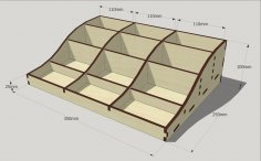 Laser Cut Wood Organizer Template Free Vector