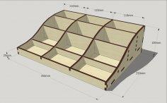 Laser Cut Wood Organizer Template Free Vector