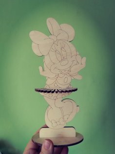 Laser Cut Minnie Mouse Napkin Holder Free Vector