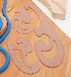 Laser Cut French Curve Template Free Vector