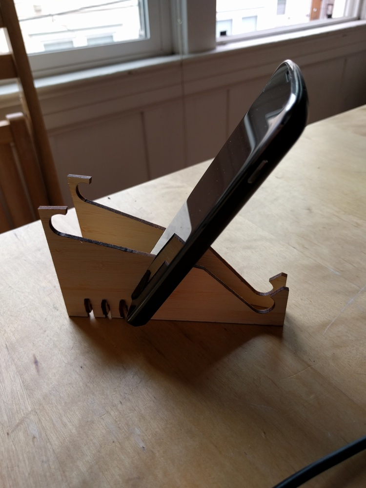 Laser Cut Multi-angle Phone Stand Free Vector