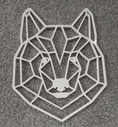 Laser Cut Geometric Bear Head Wall Art Free Vector