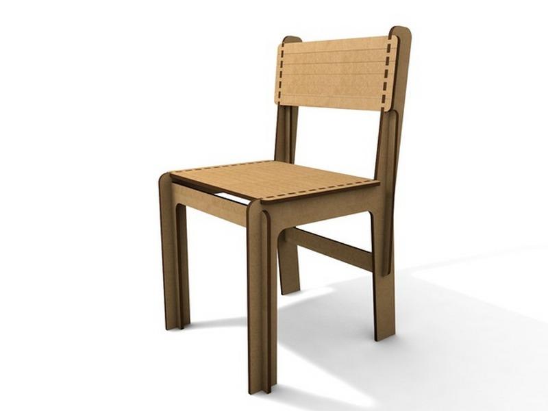 Opensource Lasercut Chair Free Vector