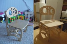 Baby Chair Laser Cut CNC Router Plans Free Vector