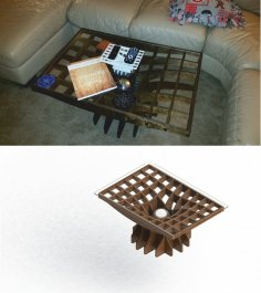 Living Room Table Laser Cut Free Vector