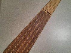 Longer Flexible Laser Cut Tie SVG File