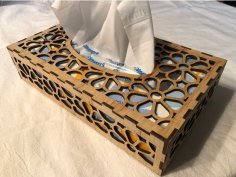 Laser Cut Tissue Box 3mm Plywood SVG File