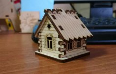 Laser Cut House Hut CNC Template Free Vector