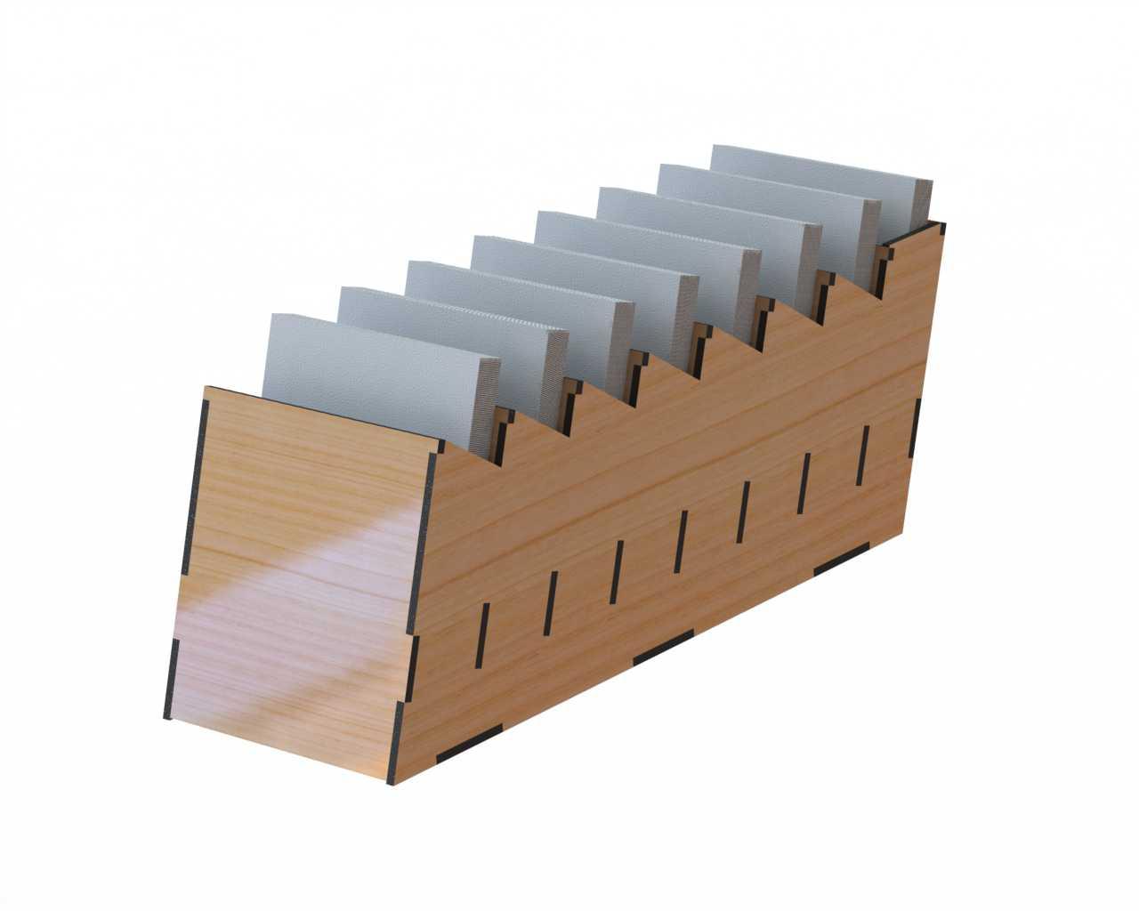 Laser Cut Desk Organizer for Notes DXF File