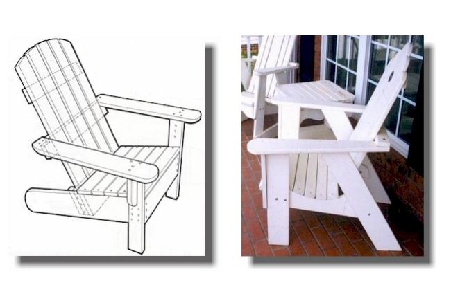 Laser Cut Adirondack Chairs CNC Template PDF File
