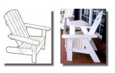 Laser Cut Adirondack Chairs CNC Template PDF File