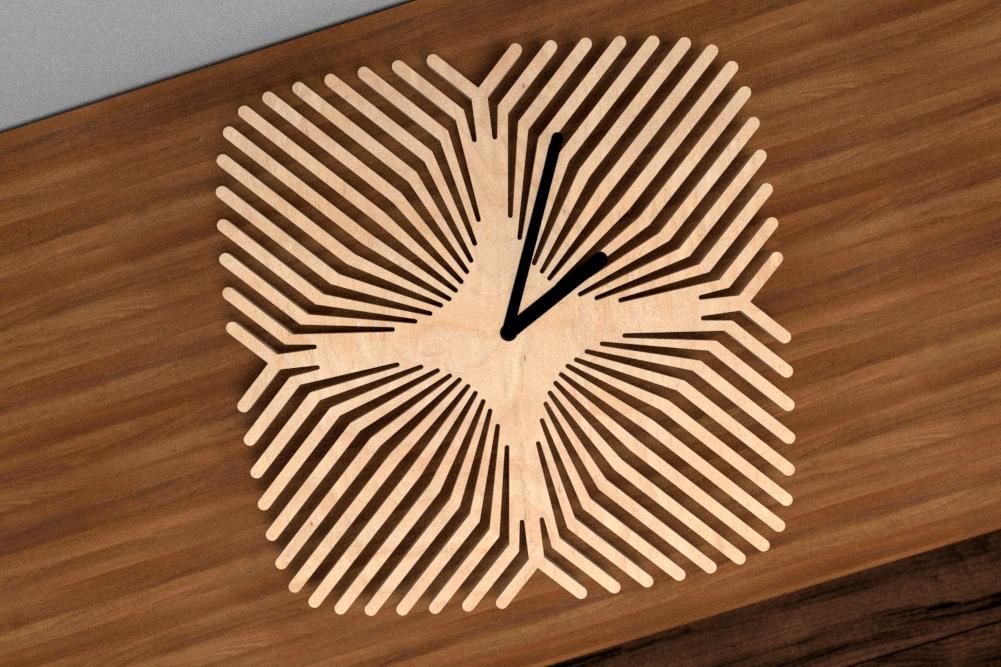 Laser Cut Pattern Clock Free Vector
